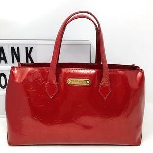 Louis Vuitton Bags - Louis Vuitton Wilshire red vernis monogram handbag